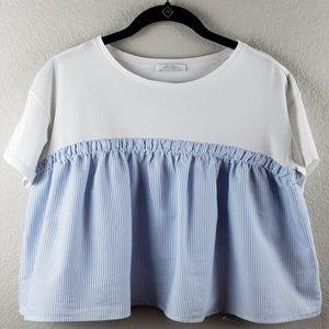 Zara   Crop Stripe Top Size M